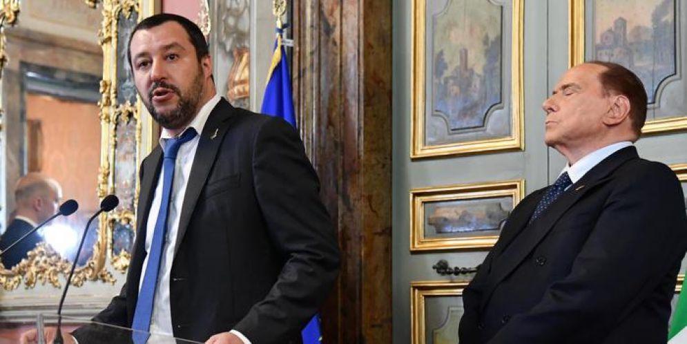 Matteo Salvini e Silvio Berlusconi