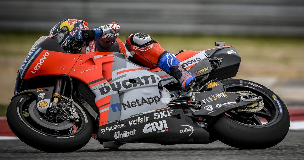 Andrea Dovizioso in sella alla Ducati nelle prove libere del GP delle Americhe ad Austin