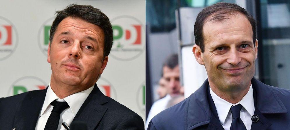 Matteo Renzi e Massimiliano Allegri