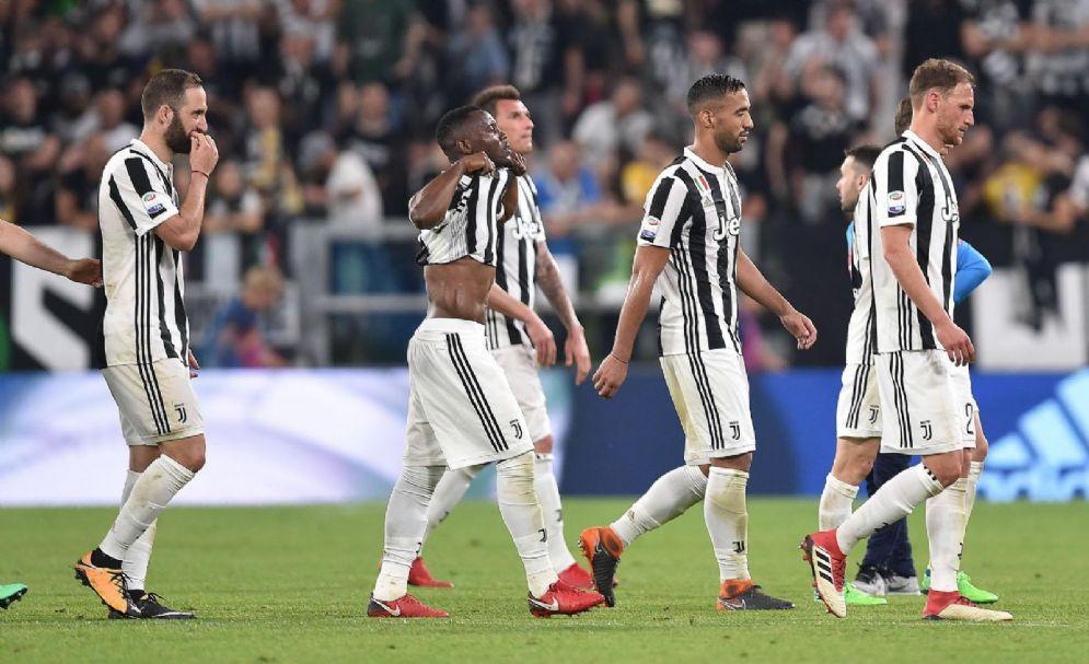 La Juventus esce delusa dallo Juventus Stadium dopo la partita con il Napoli