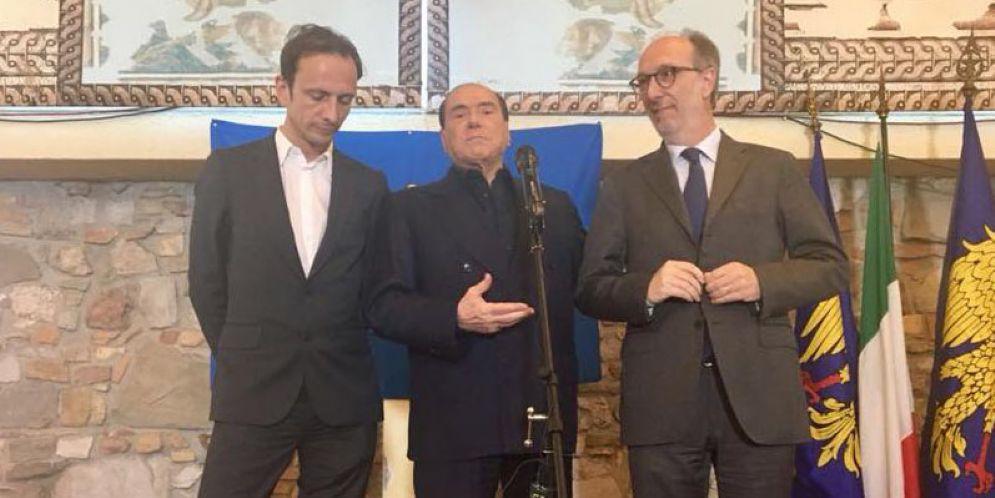 Fedriga, Berlusconi, Riccardi
