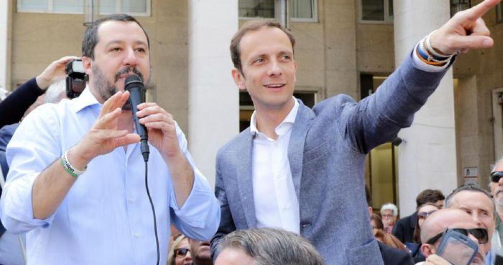 Matteo Salvini e Massimiliano Fedriga, candidato alla Presidenza della Regione Friuli Venezia Giulia