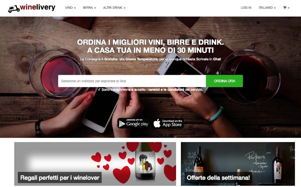 Il sito di Winelivery