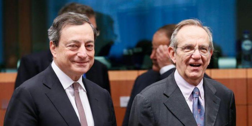Mario Draghi e Pier Carlo Padoan