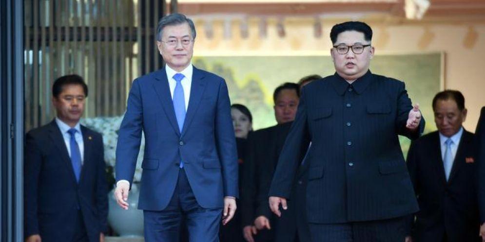 Kim Jong Un, il primo leader della Corea del Nord a mettere piede al Sud, dove ha incontrato il presidente Moon Jae-in nel terzo summit intercoreano
