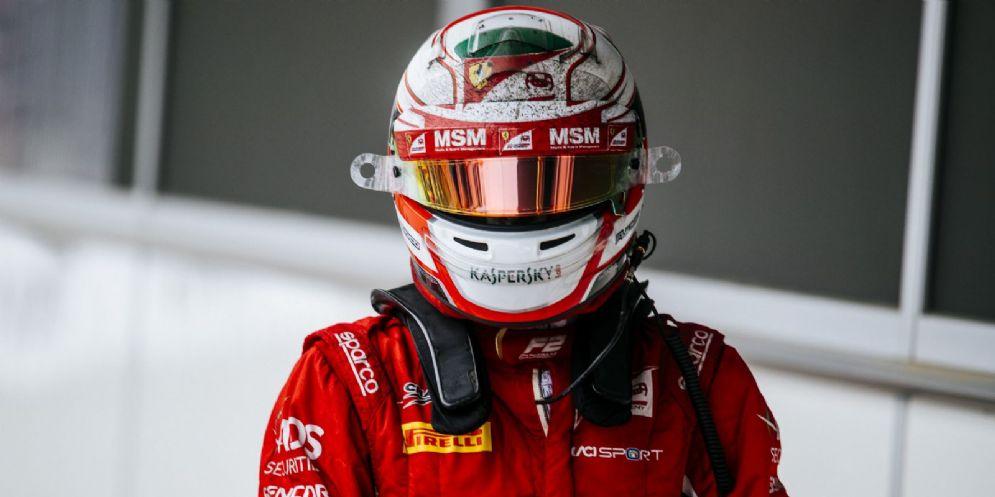 Antonio Fuoco sul circuito di Baku in Azerbaigian