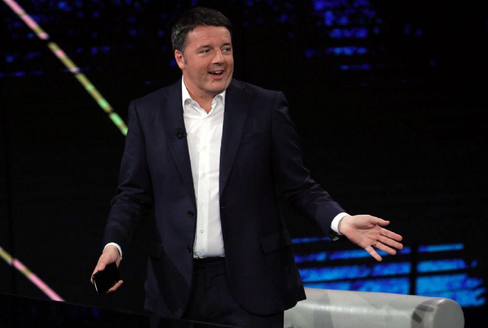 L'ex segretario del Pd Matteo Renzi a Che tempo che fa