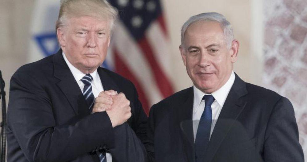 Donald Trump con Benjamin Netanyahu