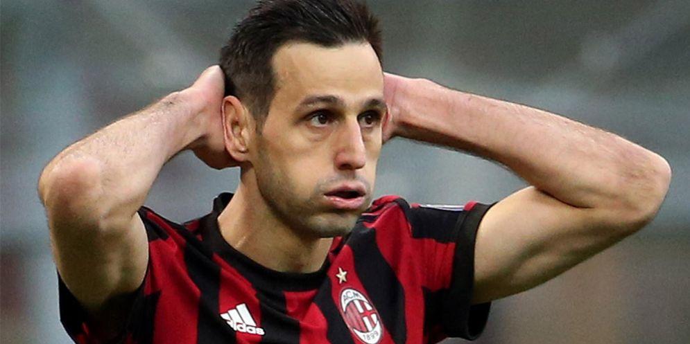 L'attaccante del Milan Nikola Kalinic