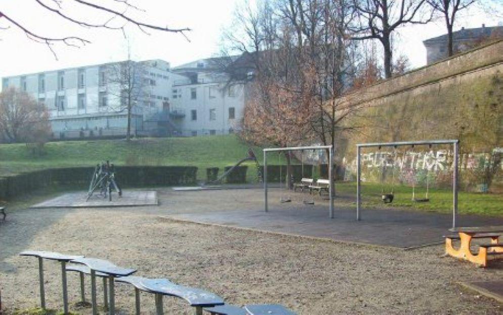 L'area giochi dei Giardini Reali
