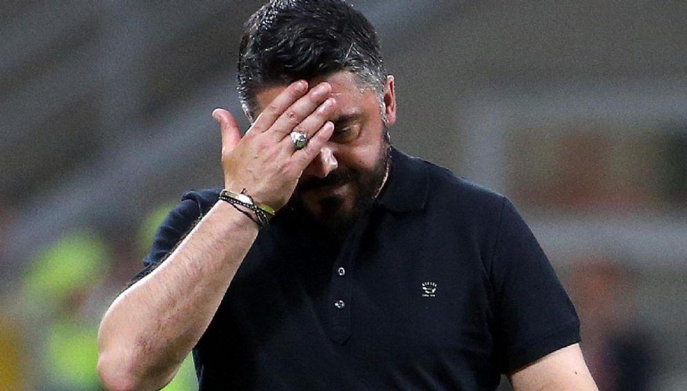 Un Gattuso pensieroso riflette sull'attacco rossonero