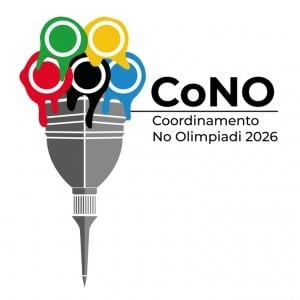 Il simbolo del CoNO - Coordinamento No Olimpiadi Torino 2026