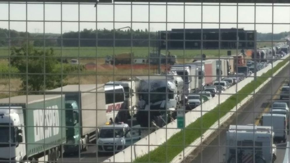 Autostrada A4: incidente fra 3 camion, uscita obbligatoria a Villesse