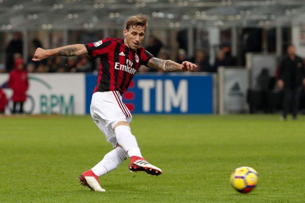 Il centrocampista argentino del Milan Lucas Biglia
