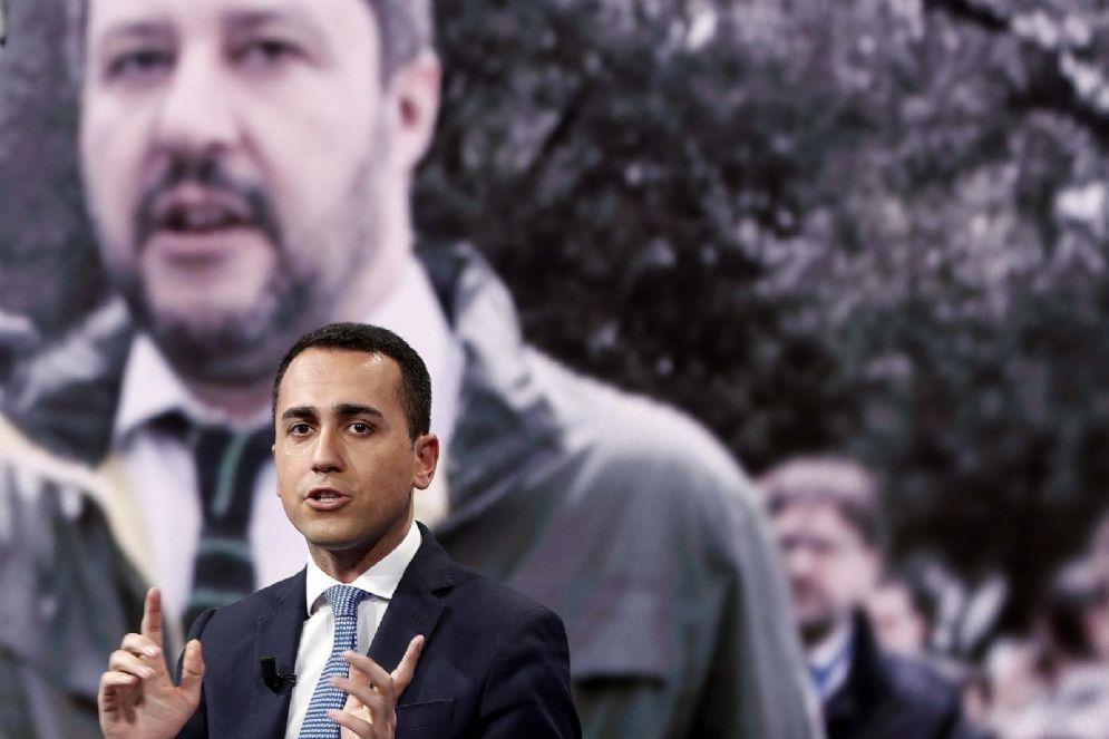 Luigi Di Maio a 'Porta a Porta' su Rai Uno, Roma, 11 Aprile 2018