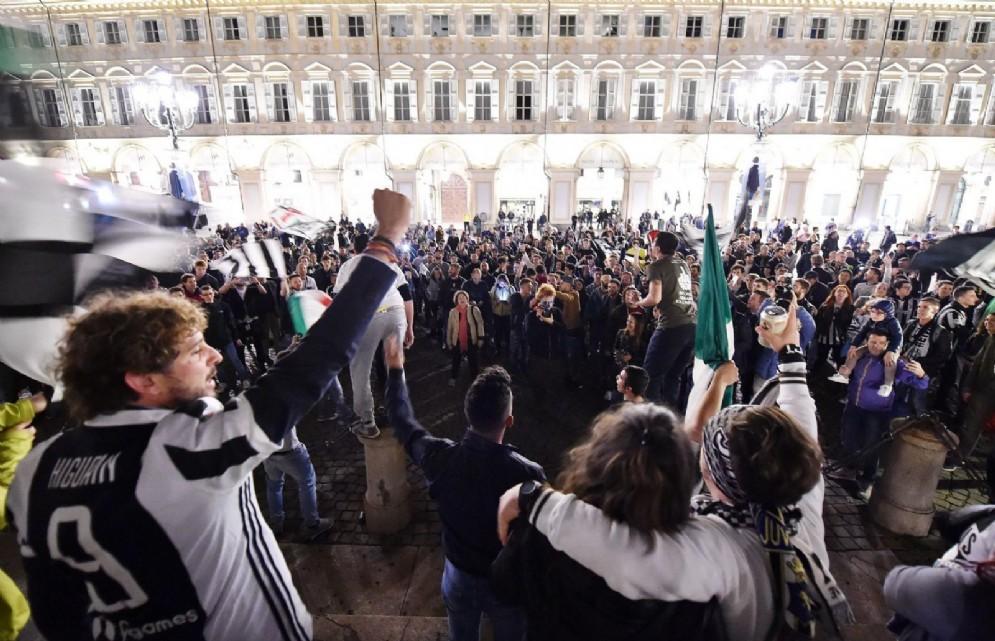Piazza San Carlo a Torino, domenica 13 maggio