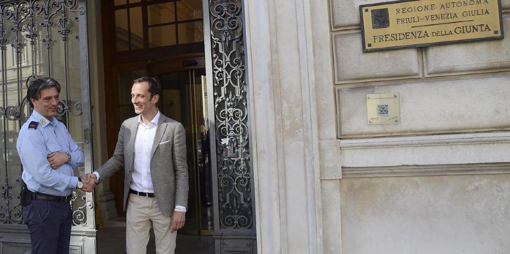 Il neoeletto governatore della Regione Friuli-Venezia Giulia, Massimiliano Fedriga