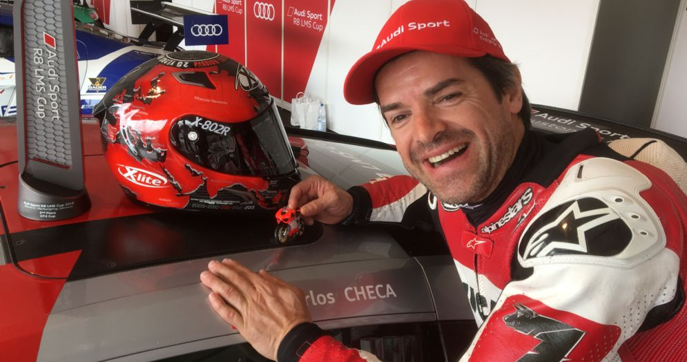 Carlos Checa con la Audi R8 Cup Lms