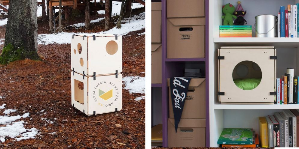 'Catown', la cuccia per gatti modulare ed ecologica è made in Fvg