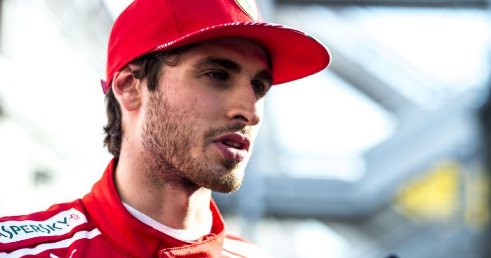 Il collaudatore della Ferrari Antonio Giovinazzi