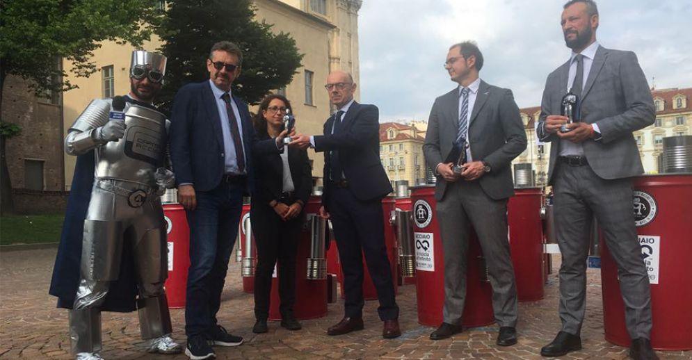 La premiazione in piazza Castello