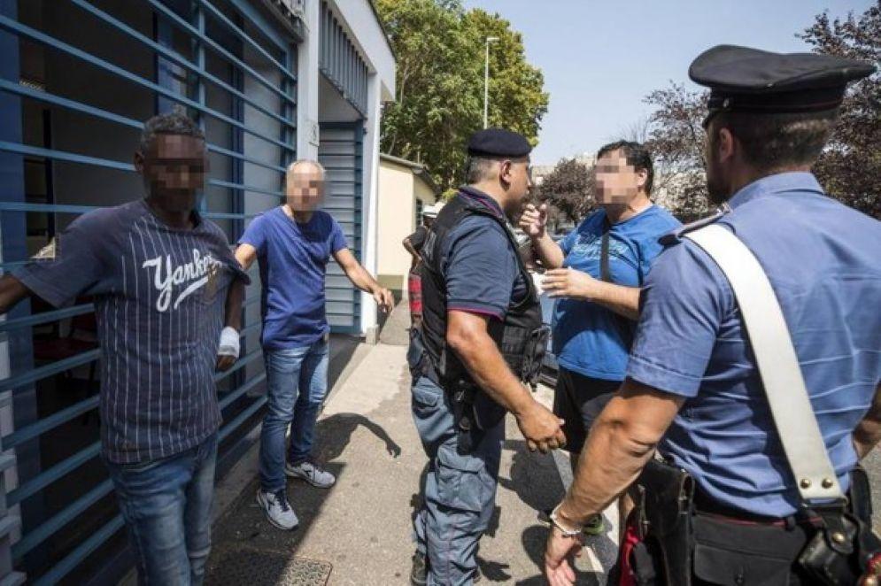 Un centro di accoglienza per migranti in Italia