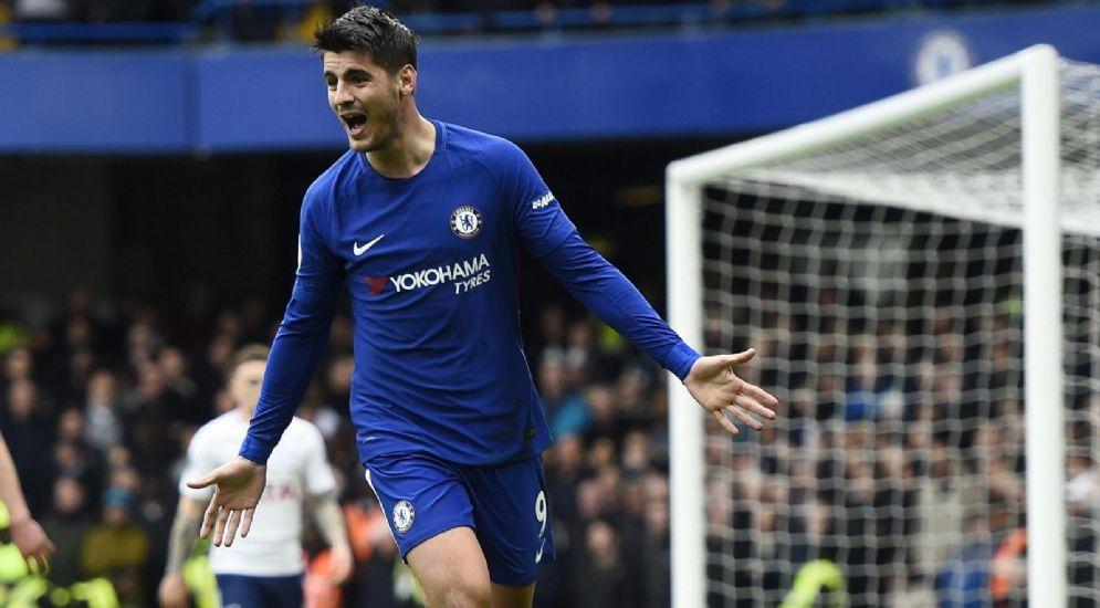 L'attaccante del Chelsea Alvaro Morata