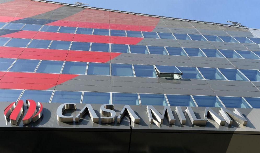 Un'immagine della sede del Milan