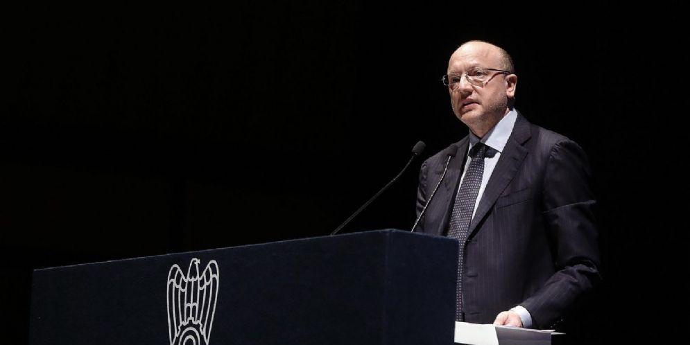 Il Presidente Vincenzo Boccia all'assemblea di Confindustria
