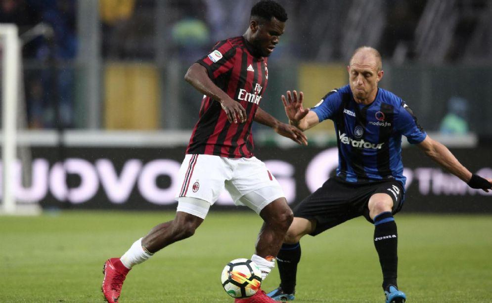 Un momento dell'ultimo Atalanta-Milan