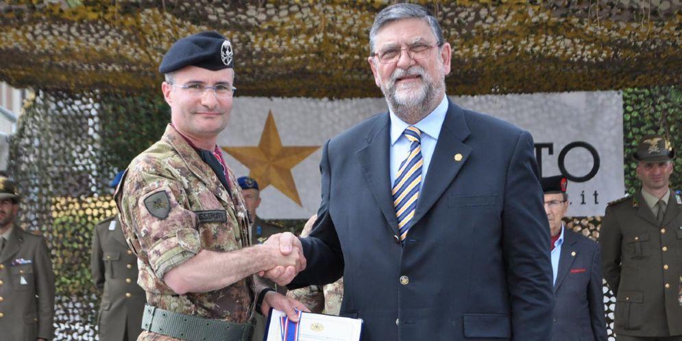 Medaglia della Carità nazionale di bronzo al 3° Reggimento Genio Guastatori di Udine