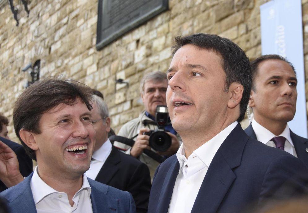 Dario Nardella e Matteo Renzi a Firenze