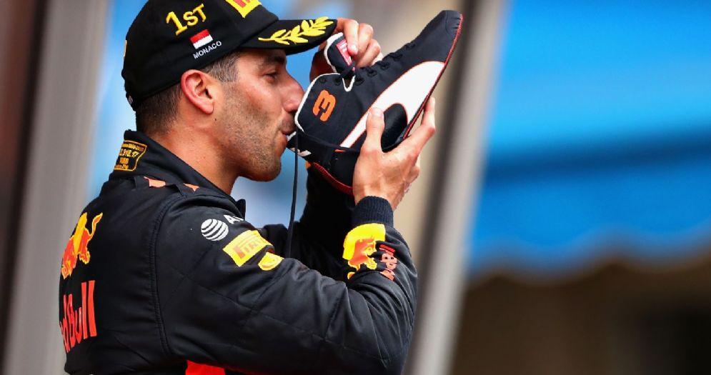 Daniel Ricciardo festeggia la vittoria nel GP di Montecarlo di F1