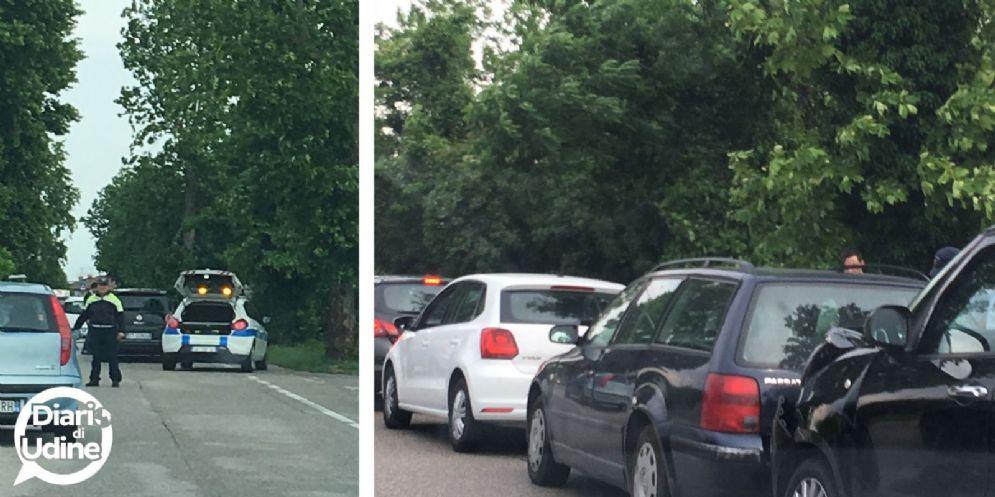 Tamponamento tra 4 auto sulla Ss 13: traffico rallentato