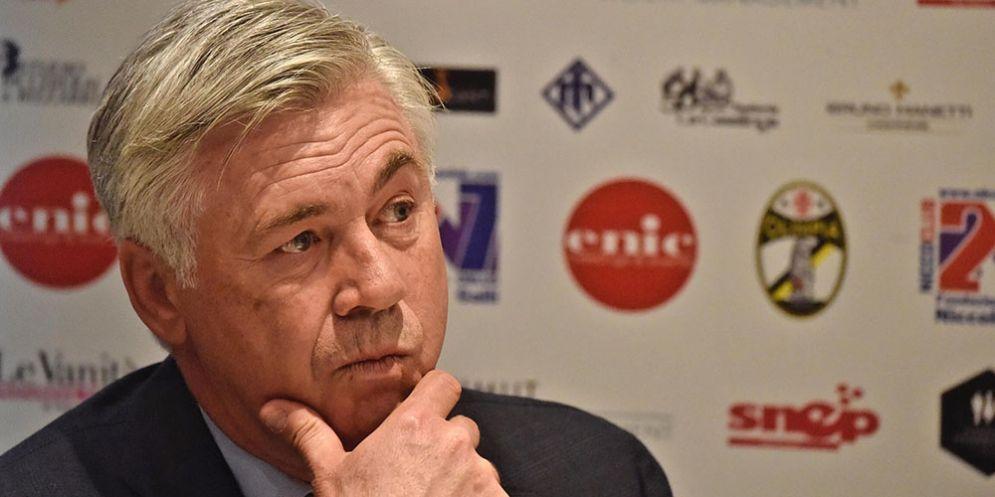 Il neo allenatore del Napoli Carlo Ancelotti