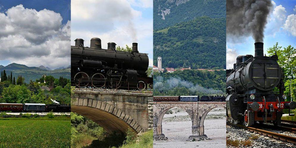Una foto per la ferrovia Pedemontana: locandine dei treni storici con le foto degli appassionati