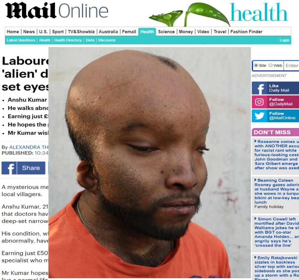 Screenshot dell'articolo del Daily Mail