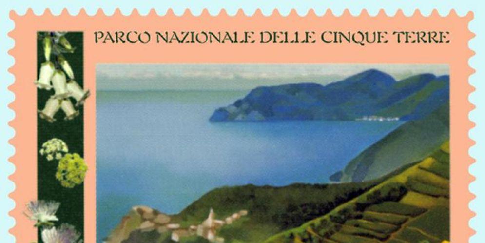Francobollo del Parco Nazionale delle Cinque Terre