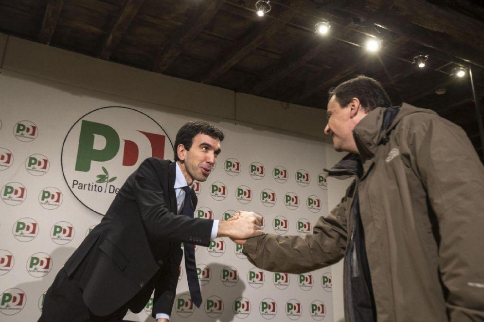 Maurizio Martina e Carlo Calenda