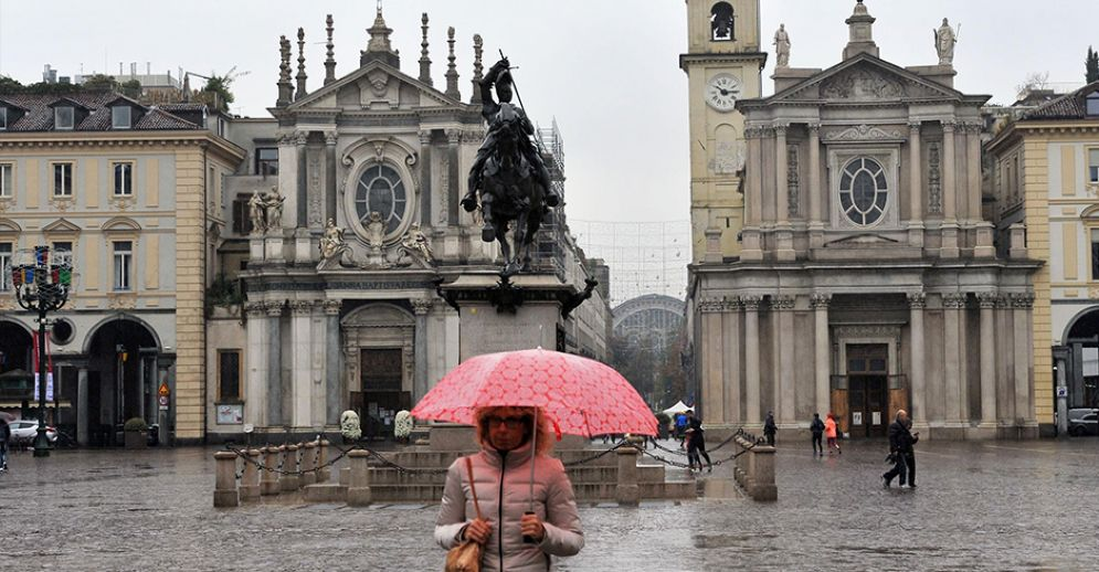 Pioggia a Torino