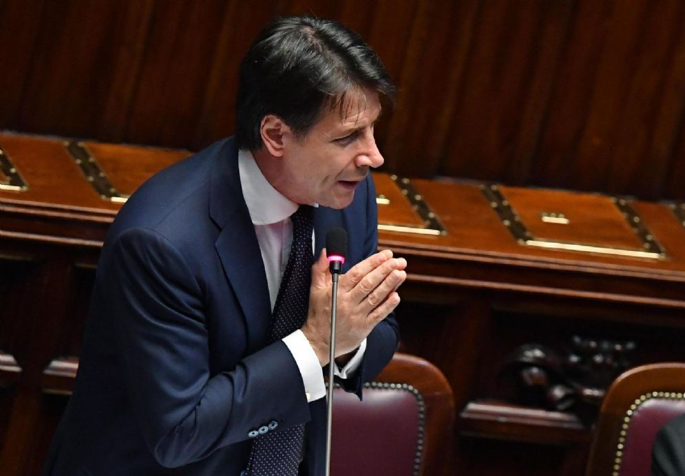 Giuseppe Conte alla Camera per il voto di fiducia al nuovo Governo