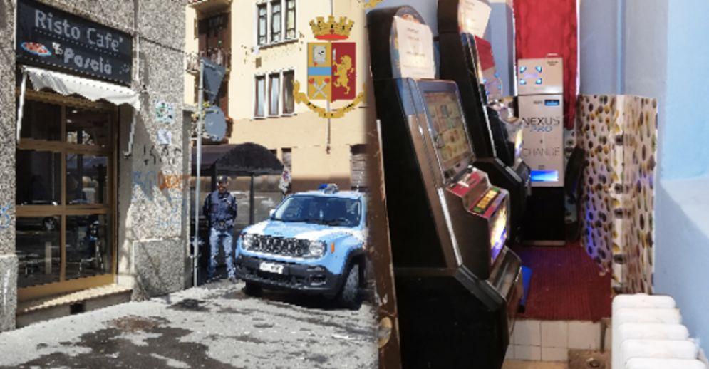Nel bar Pascià di via Nizza tornano le slot machine illegali: sanzionato titolare cinese