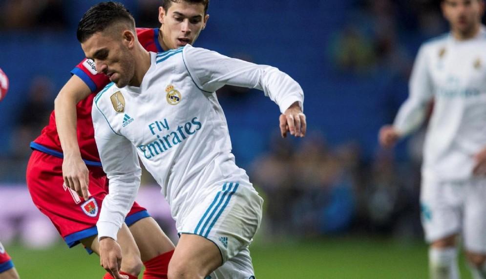 Il centrocampista spagnolo del Real Madrid Dani Ceballos