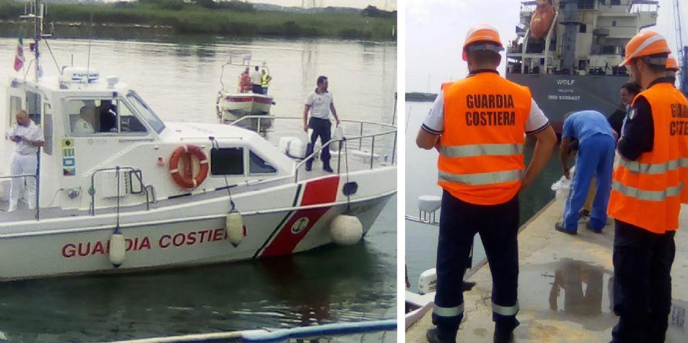 Chiazza oleosa sul fiume Corno: allarme Porto Nogaro