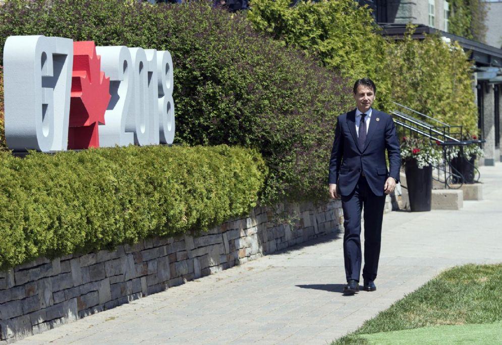 Conte al vertice G7 in Canada
