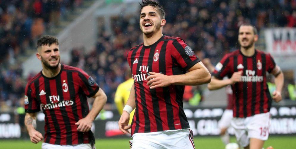 Andrè Silva festeggia dopo un gol