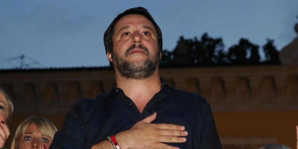 Matteo Salvini a Brescia per sostenere il candidato sindaco del centrodestra Paola Vilardi