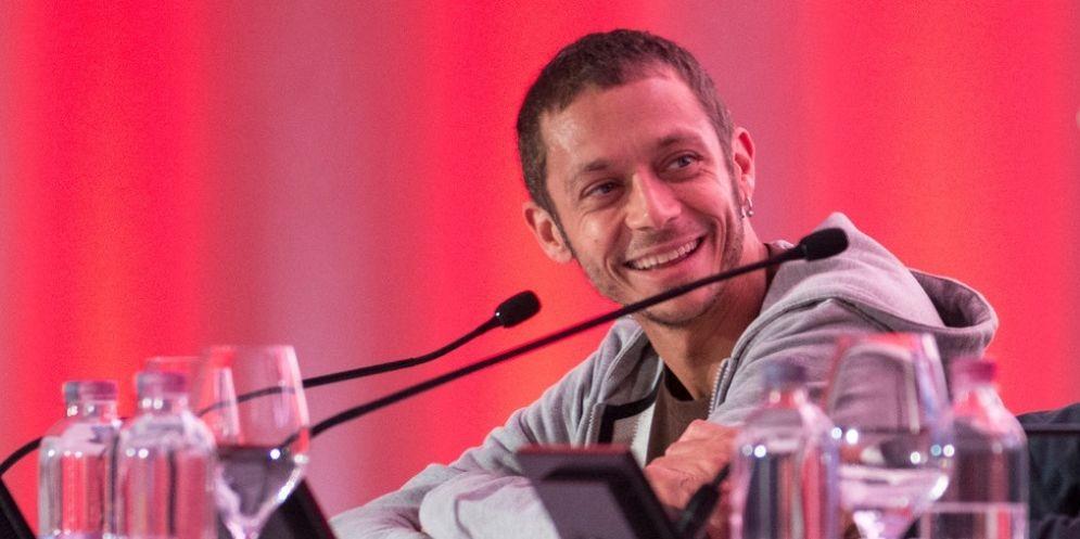 Valentino Rossi alla conferenza stampa di presentazione dell'archivio Dainese a Vicenza