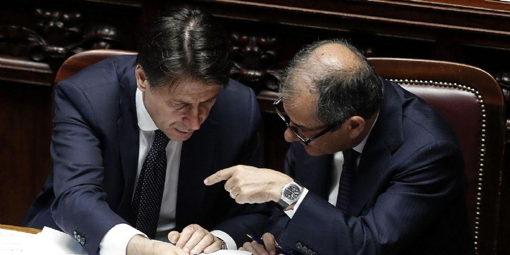 Giuseppe Conte con Giovanni Tria