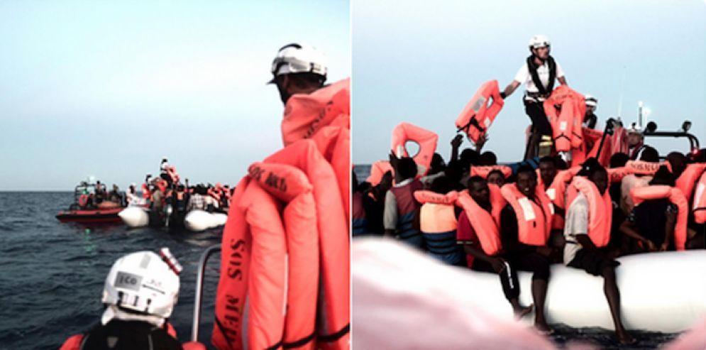 La Acquarius di Sos Mediterranee in rotta verso un porto di sicurezza non ancora assegnato
